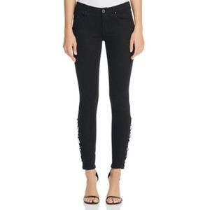 BLANK NYC Intro Lace Up Ankle Crop Jeans Size 28